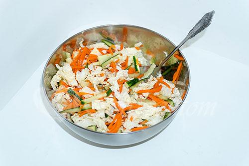 Салат из пекинской капусты с курицей #шаг 16