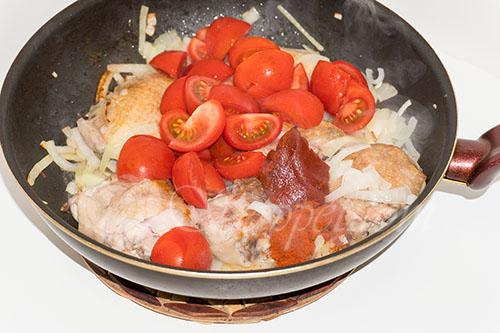 Курица с овощами на сковороде (чахобили) #шаг 12