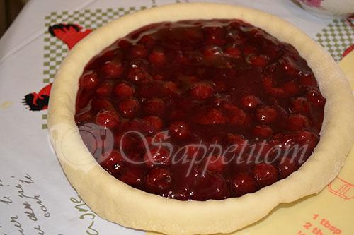 Пирог с вишней в духовке #шаг 4