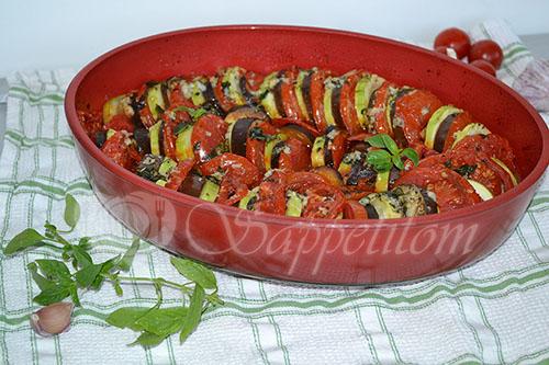 Рататуй - овощи запеченные в духовке #шаг 12