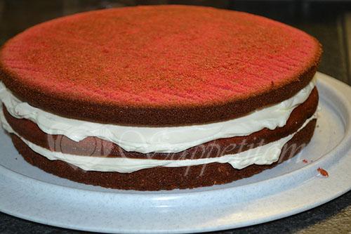 Торт Красный Бархат #шаг 22