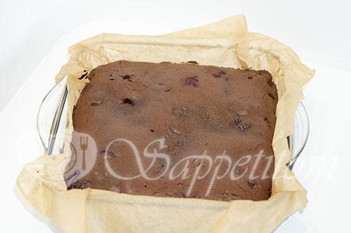 Шоколадный брауни с вишней #шаг 11