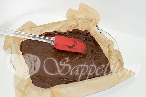Шоколадный брауни с вишней #шаг 10