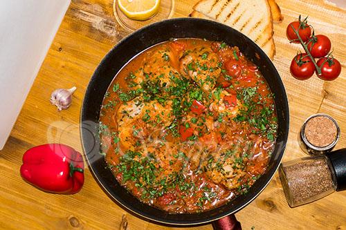 Курица с овощами на сковороде (чахобили) #шаг 17