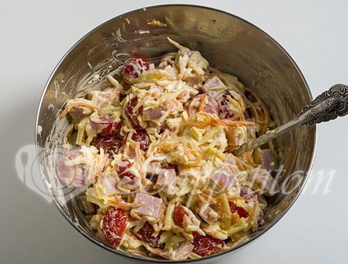 Салат с ветчиной и сыром #шаг 6