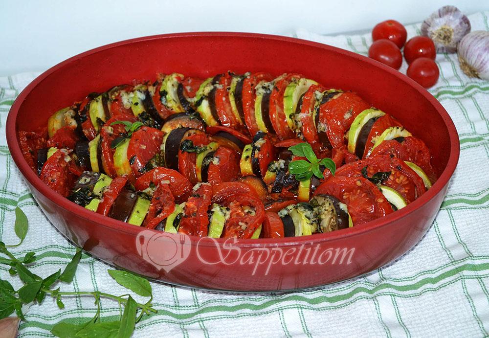 Рататуй - овощи запеченные в духовке