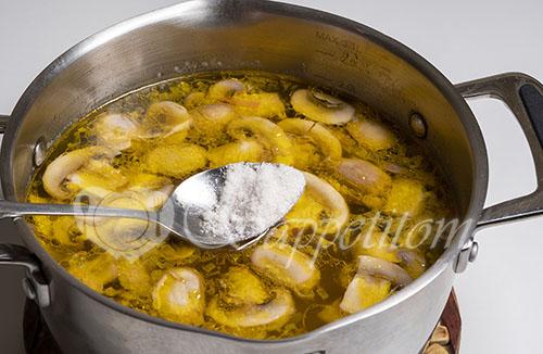 Грибной суп из шампиньонов #шаг 7