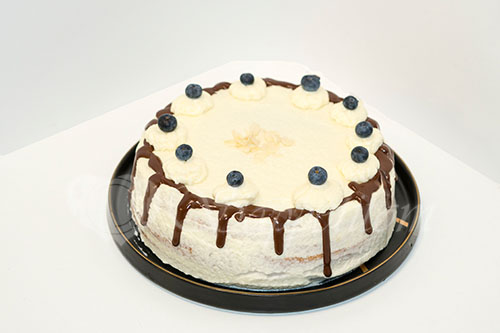 Бисквитный торт с кремом Шарлотт #шаг 11