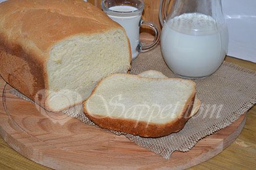 Молочный хлеб в хлебопечке #шаг 4