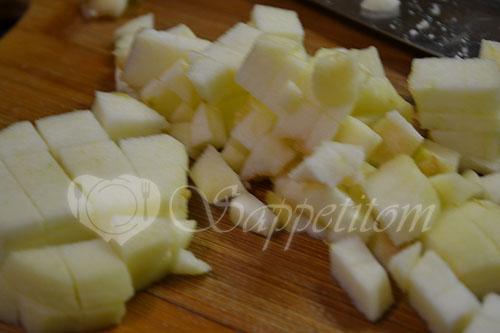Яблочный штрудель вытяжное тесто #шаг 1