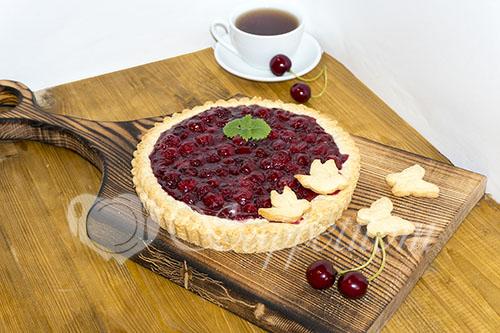 Пирог с вишней или вишневый тарт