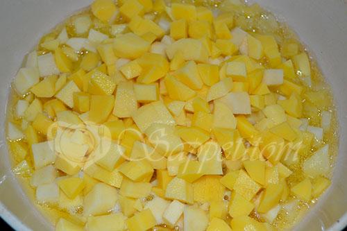 Картофель с сыром и стручковой фасолью #шаг 1