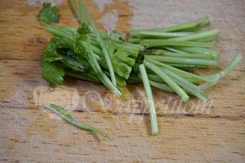 Салат из свежих кабачков и огурцов по корейски #шаг 5