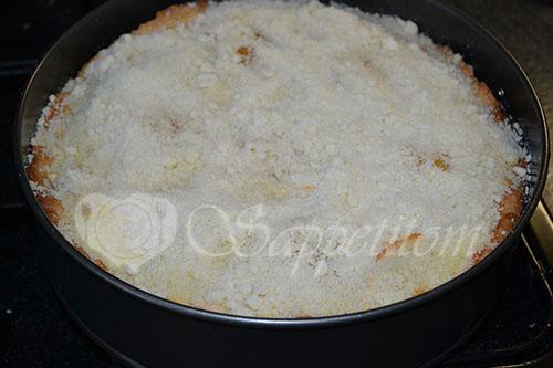 Цветаевский пирог с персиками и яблоками #шаг 18