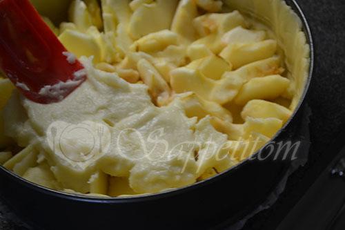 Яблочный пирог с Заварным кремом или Шарлотка по-Польски #шаг 21