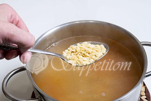 Суп на курином бульоне #шаг 11