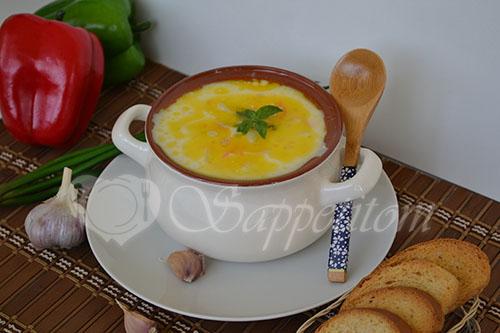 """Сырный суп с курицей """"По-французски"""" #шаг 10"""