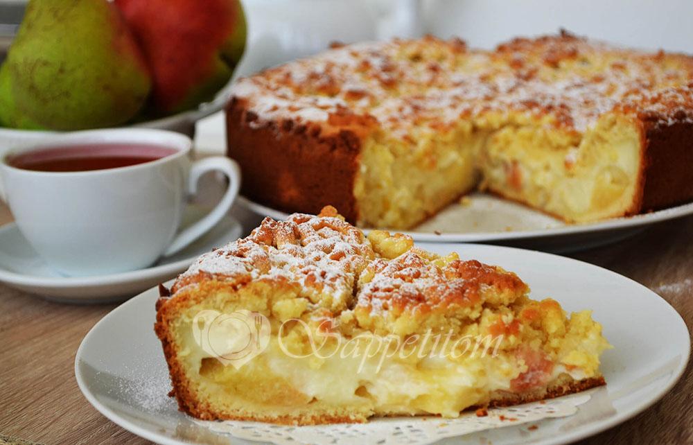 Яблочный пирог с Заварным кремом или Шарлотка по-Польски