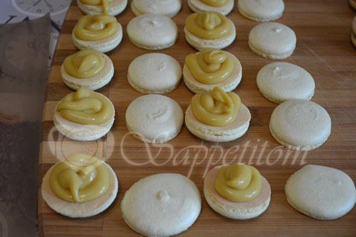 Пирожное Макарон (Macaron) манговый #шаг 22