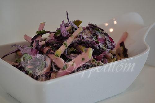 Салат с красной капустой #шаг 9