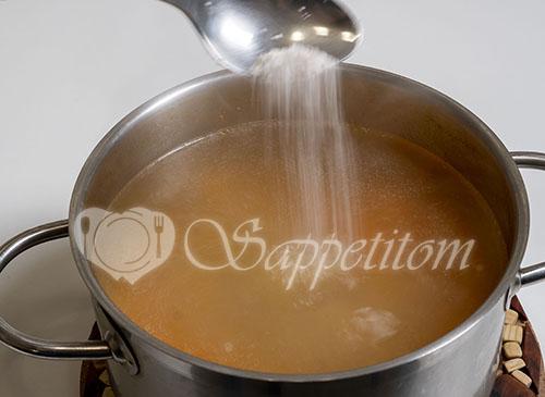 Суп на курином бульоне #шаг 10