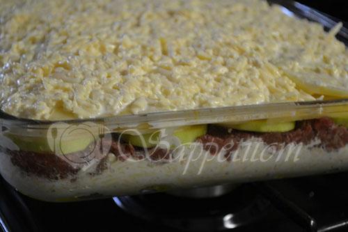 Картофельная запеканка с фаршем #шаг 11