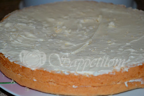 Бисквитный торт с кремом Шарлотт #шаг 8