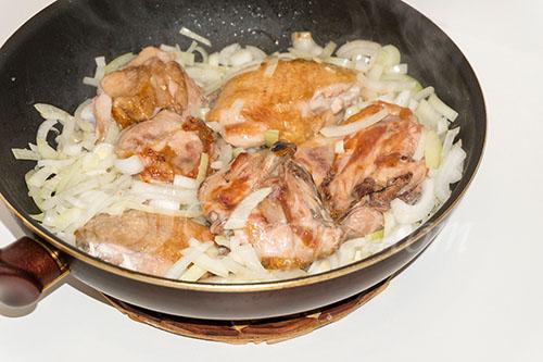 Курица с овощами на сковороде (чахобили) #шаг 10