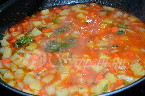 Овощное рагу с томатом #шаг 4