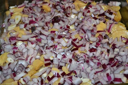 Картофельная запеканка с курицей и грибами #шаг 3