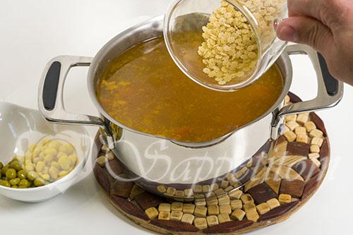 Суп с горошком и кукурузой #шаг 12