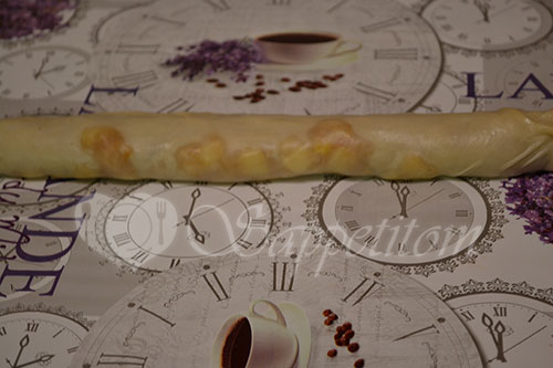 Яблочный штрудель вытяжное тесто #шаг 7