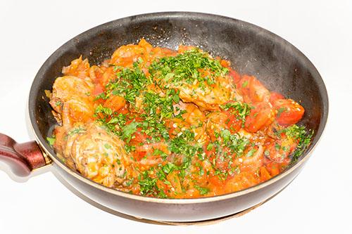 Курица с овощами на сковороде (чахобили) #шаг 15