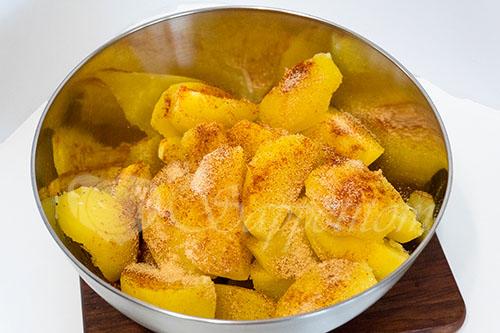 Золотистый картофель #шаг 4