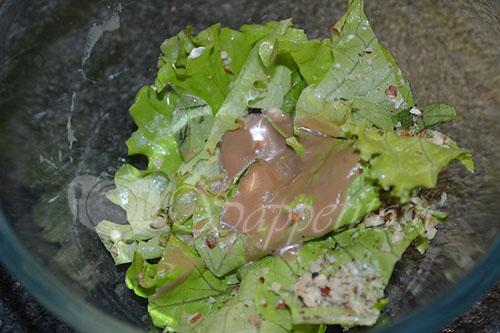 Теплый салат с куриной печенью #шаг 11