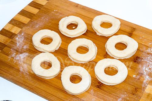 """Пончики дрожжевые """"Донатс"""" #шаг 10"""