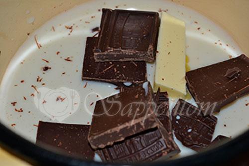 Шоколадная глазурь #шаг 1