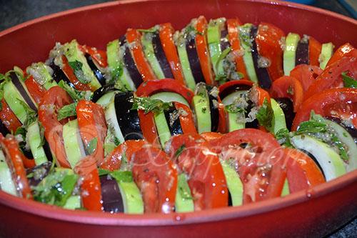 Рататуй - овощи запеченные в духовке #шаг 10