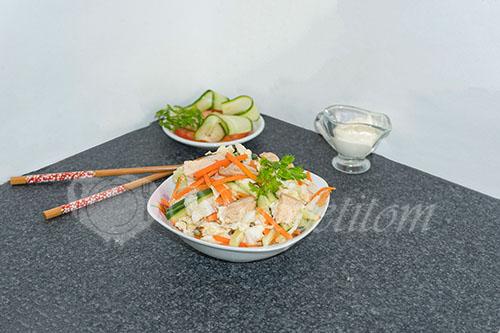 Салат из пекинской капусты с курицей #шаг 18
