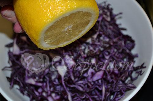 Салат с красной капустой #шаг 2