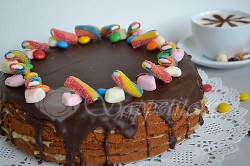 """Ленивый торт """"Медовик"""" в мультиварке #шаг 13"""