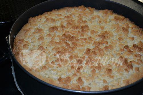 Яблочный пирог с Заварным кремом или Шарлотка по-Польски #шаг 25