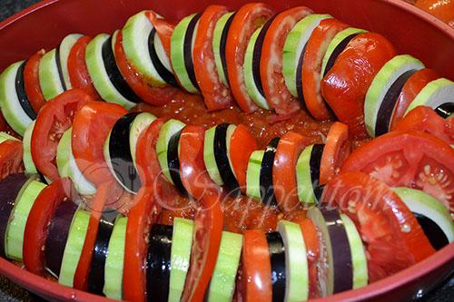Рататуй - овощи запеченные в духовке #шаг 9