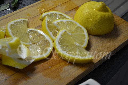 Карп с лимоном и базиликом запеченный в духовке #шаг 2