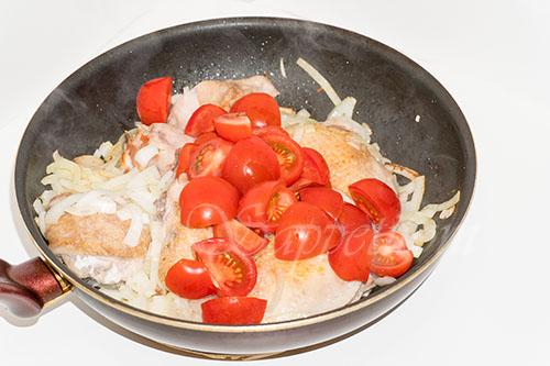 Курица с овощами на сковороде (чахобили) #шаг 11