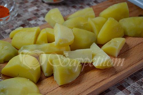 Золотистый картофель #шаг 2