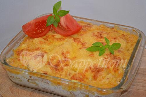 Картофельная запеканка с курицей и грибами #шаг 8