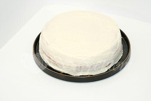 Бисквитный торт с кремом Шарлотт #шаг 9