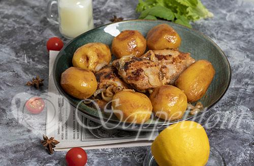 Курица с картошкой на сковороде #шаг 16