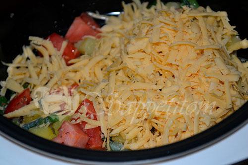 Картофель с сыром и стручковой фасолью в мультиварке #шаг 6